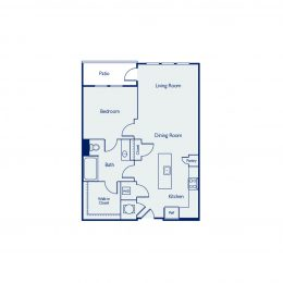 1 Bedroom Floor Plan A1G