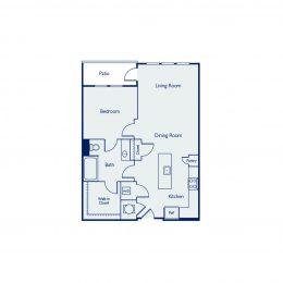 1 Bedroom Floor Plan A1G