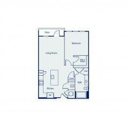 1 Bedroom Floor plan A1L