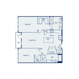 2 Bedroom Floor Plan B2I