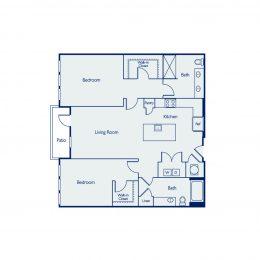 2 Bedroom Floor Plan B2I
