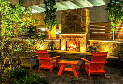 Bell Buckhead West Fire Pit Features